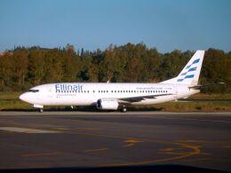 まいけるさんが、コルフ・イオアニス・カポディストリアス空港で撮影したエリンエア 737-4S3の航空フォト(飛行機 写真・画像)