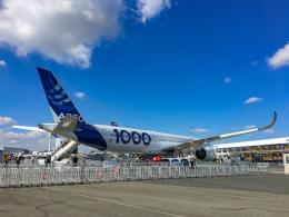 gomaさんが、ル・ブールジェ空港で撮影したエアバス A350-1041の航空フォト(飛行機 写真・画像)