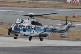 プルシアンブルーさんが、関西国際空港で撮影した海上保安庁 EC225LP Super Puma Mk2+の航空フォト(飛行機 写真・画像)