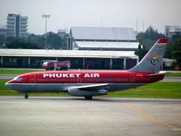 メニSさんが、ドンムアン空港で撮影したプーケット航空 737-2B7/Advの航空フォト(飛行機 写真・画像)