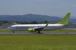 pringlesさんが、熊本空港で撮影したソラシド エア 737-81Dの航空フォト(飛行機 写真・画像)