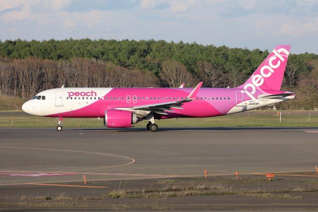 航空フォト:JA203P ピーチ A320neo
