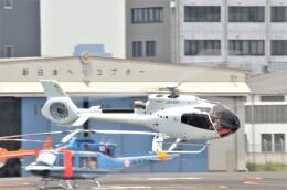 ヘリオスさんが、東京ヘリポートで撮影した日本個人所有 EC130T2 (H130)の航空フォト(飛行機 写真・画像)