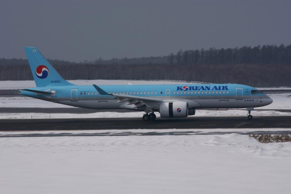 磐城さんの大韓航空 Airbus A220-300 (HL8091) 航空フォト