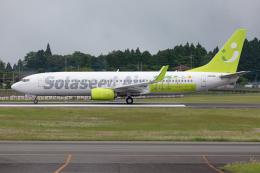 (新)ふぁんとむ改さんが、鹿児島空港で撮影したソラシド エア 737-86Nの航空フォト(飛行機 写真・画像)