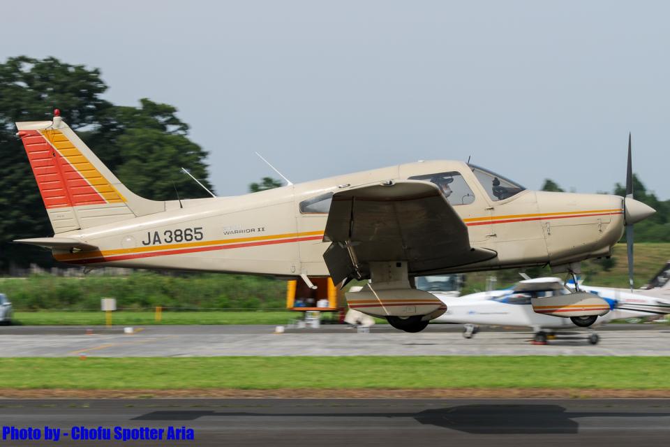 Chofu Spotter Ariaさんの日本個人所有 Piper PA-28 Cherokee (JA3865) 航空フォト