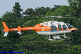 Chofu Spotter Ariaさんが、ホンダエアポートで撮影した新日本ヘリコプター 407の航空フォト(飛行機 写真・画像)