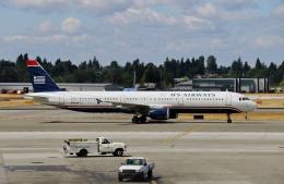 TA27さんが、シアトル タコマ国際空港で撮影したUSエアウェイズ A321-211の航空フォト(飛行機 写真・画像)