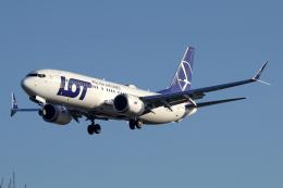 chrisshoさんが、ロンドン・ヒースロー空港で撮影したLOTポーランド航空 737-8-MAXの航空フォト(飛行機 写真・画像)