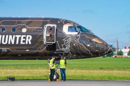 gomaさんが、ル・ブールジェ空港で撮影したエンブラエル ERJ-190-400 STD (E195-E2)の航空フォト(飛行機 写真・画像)
