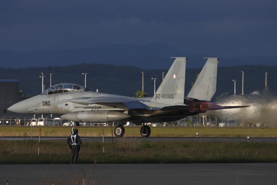 黄色の168さんの航空自衛隊 Mitsubishi F-15DJ Eagle (32-8080) 航空フォト