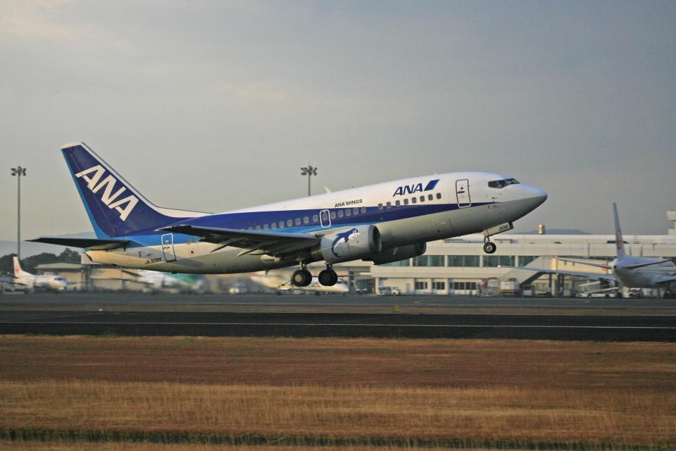 tsubameさんのANAウイングス Boeing 737-500 (JA306K) 航空フォト