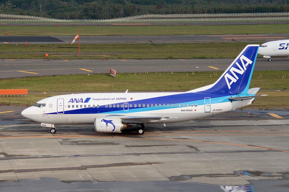 やまモンさんの全日空 Boeing 737-500 (JA306K) 航空フォト