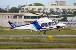 なごやんさんが、名古屋飛行場で撮影したオールニッポンヘリコプター AW139の航空フォト(飛行機 写真・画像)
