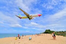 Hiro Satoさんが、プーケット国際空港で撮影したノックエア 737-8ASの航空フォト(飛行機 写真・画像)