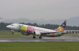 プルシアンブルーさんが、宮崎空港で撮影したスカイネットアジア航空 737-46Qの航空フォト(飛行機 写真・画像)