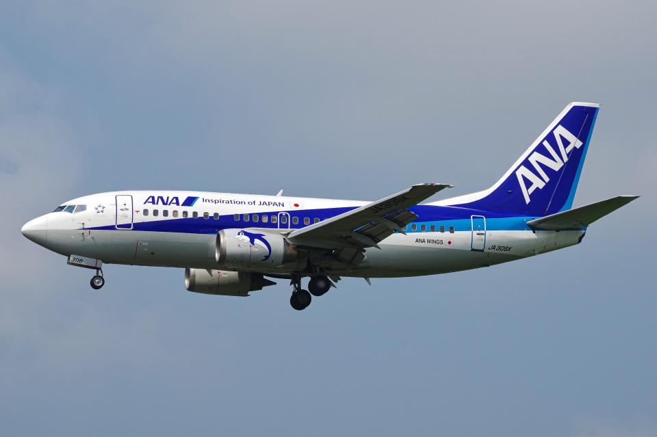 Tatsuya.KさんのANAウイングス Boeing 737-500 (JA306K) 航空フォト