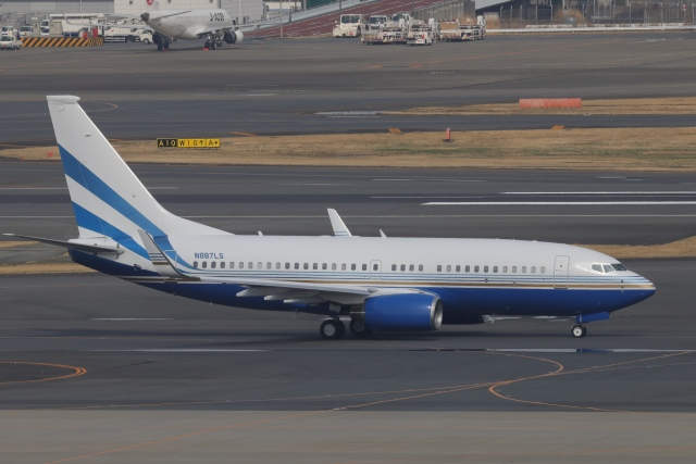 OS52さんが、羽田空港で撮影したラスベガス サンズ 737-74U BBJの航空フォト(飛行機 写真・画像)