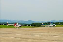 ナナオさんが、石見空港で撮影した朝日航洋 206B JetRanger IIの航空フォト(飛行機 写真・画像)