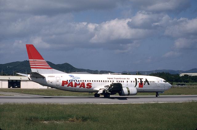 JAパイロットさんが、石垣空港で撮影した日本トランスオーシャン航空 737-4K5の航空フォト(飛行機 写真・画像)
