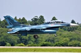 電車の運転士さんが、茨城空港で撮影した航空自衛隊 F-2Bの航空フォト(飛行機 写真・画像)