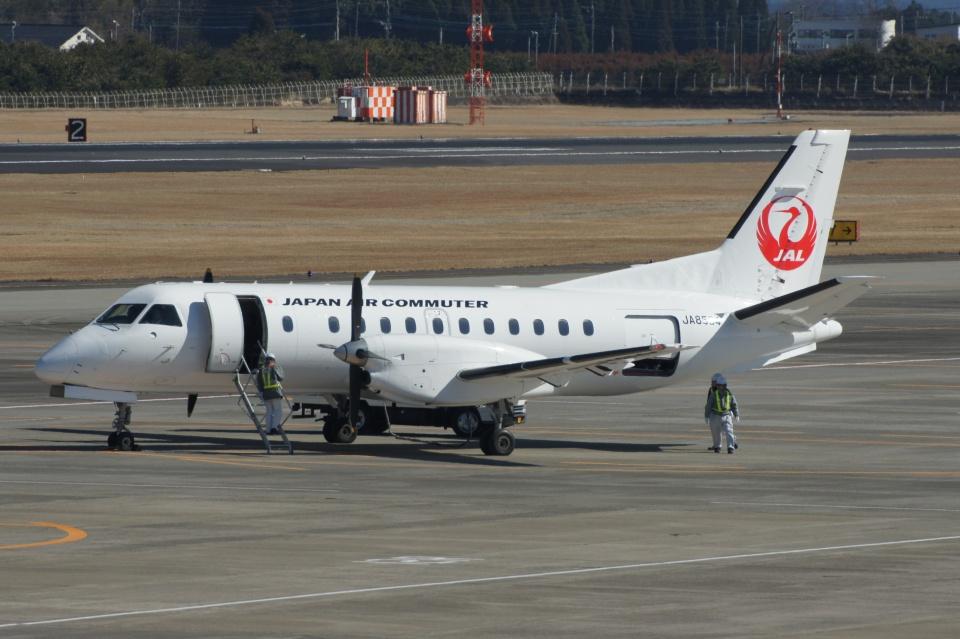 磐城さんの日本エアコミューター Saab 340 (JA8594) 航空フォト