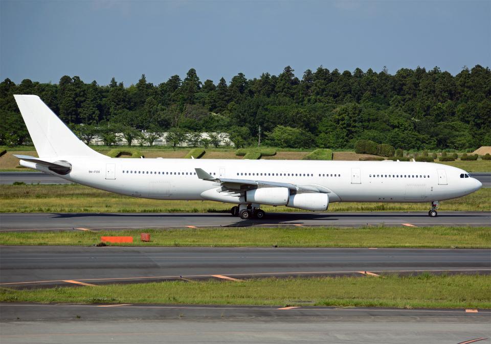 NINEJETSさんのハイ・フライ・マルタ Airbus A340-300 (9H-FOX) 航空フォト