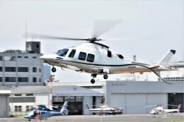 ヘリオスさんが、東京ヘリポートで撮影したノエビア AW109SP GrandNewの航空フォト(飛行機 写真・画像)