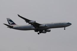 banshee02さんが、成田国際空港で撮影したキャセイパシフィック航空 A340-313Xの航空フォト(飛行機 写真・画像)