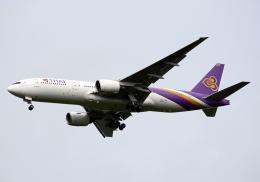 NINEJETSさんが、成田国際空港で撮影したタイ国際航空 777-2D7/ERの航空フォト(飛行機 写真・画像)