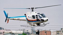 cathay451さんが、八尾空港で撮影した東邦航空 AS350B Ecureuilの航空フォト(飛行機 写真・画像)