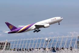 triton@blueさんが、中部国際空港で撮影したタイ国際航空 777-2D7/ERの航空フォト(飛行機 写真・画像)