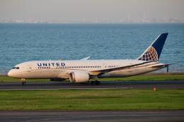 やまモンさんが、羽田空港で撮影したユナイテッド航空 787-8 Dreamlinerの航空フォト(飛行機 写真・画像)