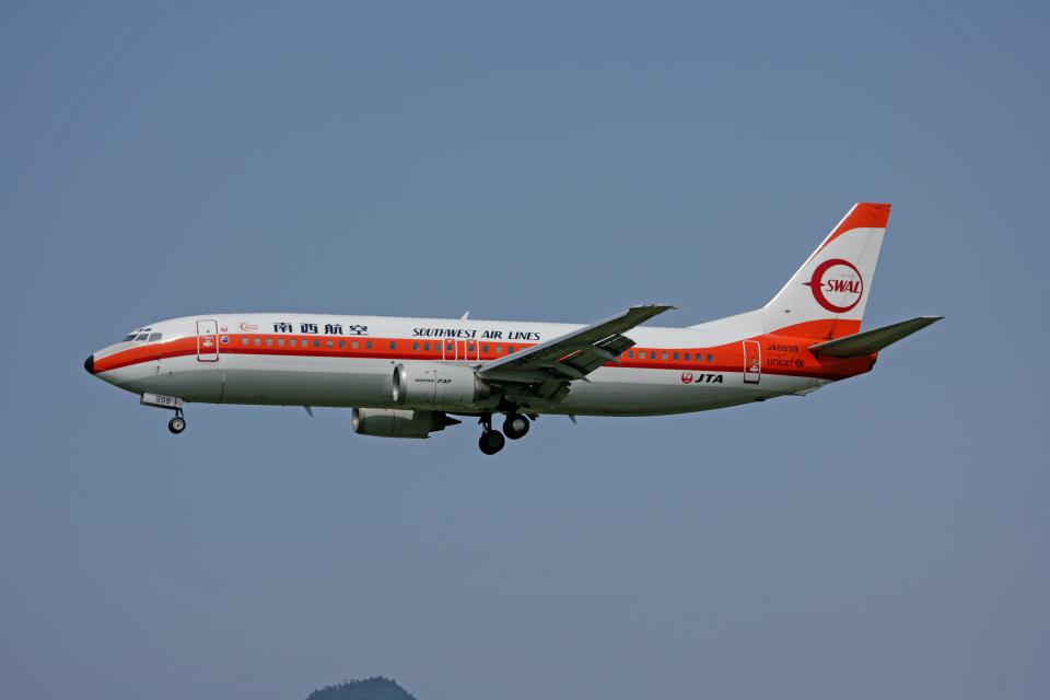 tsubameさんの日本トランスオーシャン航空 Boeing 737-400 (JA8999) 航空フォト