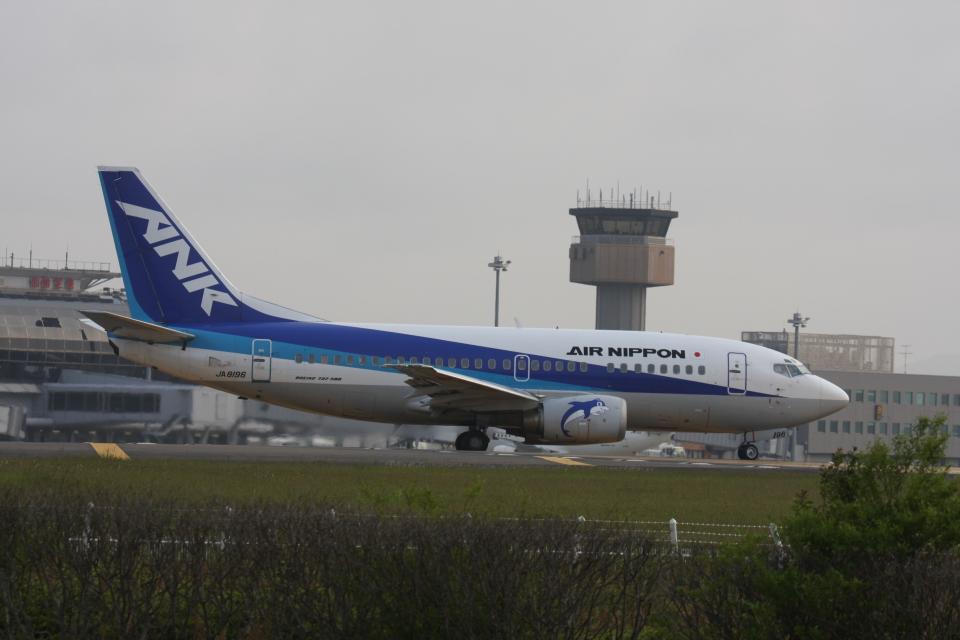 プルシアンブルーさんのエアーニッポン Boeing 737-500 (JA8196) 航空フォト