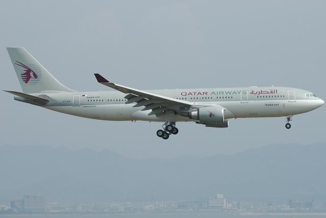 jun☆さんが、関西国際空港で撮影したカタール航空 A330-202の航空フォト(飛行機 写真・画像)