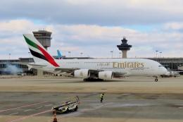 TA27さんが、ワシントン・ダレス国際空港で撮影したエミレーツ航空 A380-842の航空フォト(飛行機 写真・画像)