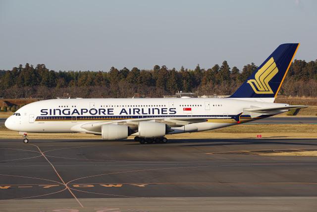 K.Tatsuyaさんが、成田国際空港で撮影したシンガポール航空 A380-841の航空フォト(飛行機 写真・画像)