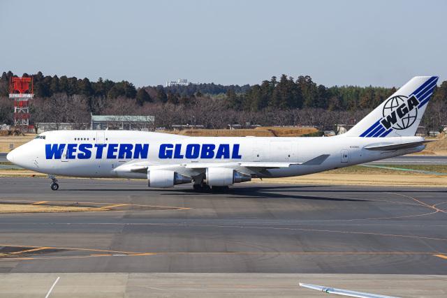 K.Tatsuyaさんが、成田国際空港で撮影したウエスタン・グローバル・エアラインズ 747-446(BCF)の航空フォト(飛行機 写真・画像)
