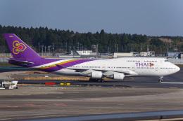 K.Tatsuyaさんが、成田国際空港で撮影したタイ国際航空 747-4D7の航空フォト(飛行機 写真・画像)