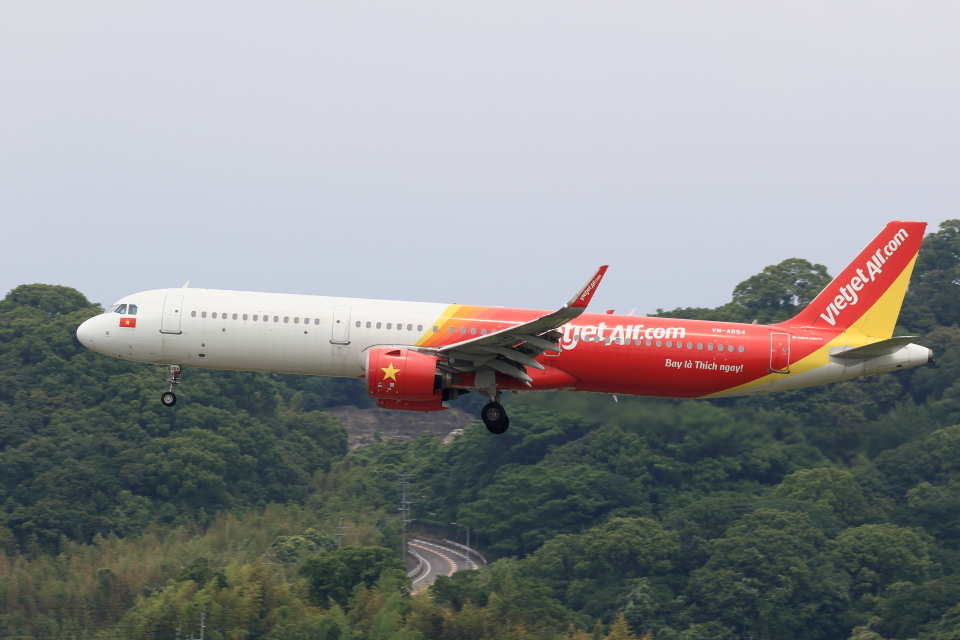 虎太郎19さんのベトジェットエア Airbus A321neo (VN-A654) 航空フォト