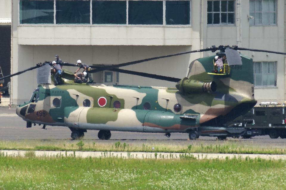 yabyanさんの航空自衛隊 Kawasaki CH-47J Chinook (07-4499) 航空フォト