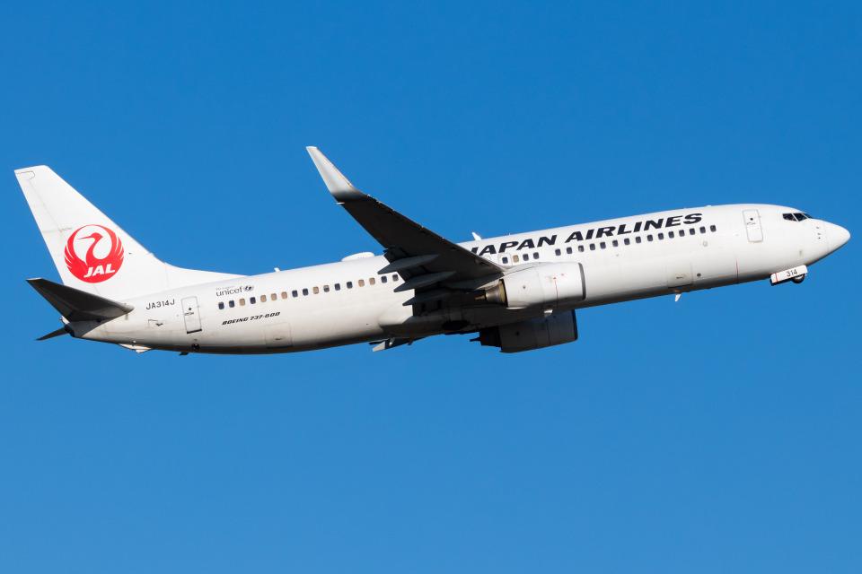 Yukio a.k.a Yu Worksさんの日本航空 Boeing 737-800 (JA314J) 航空フォト