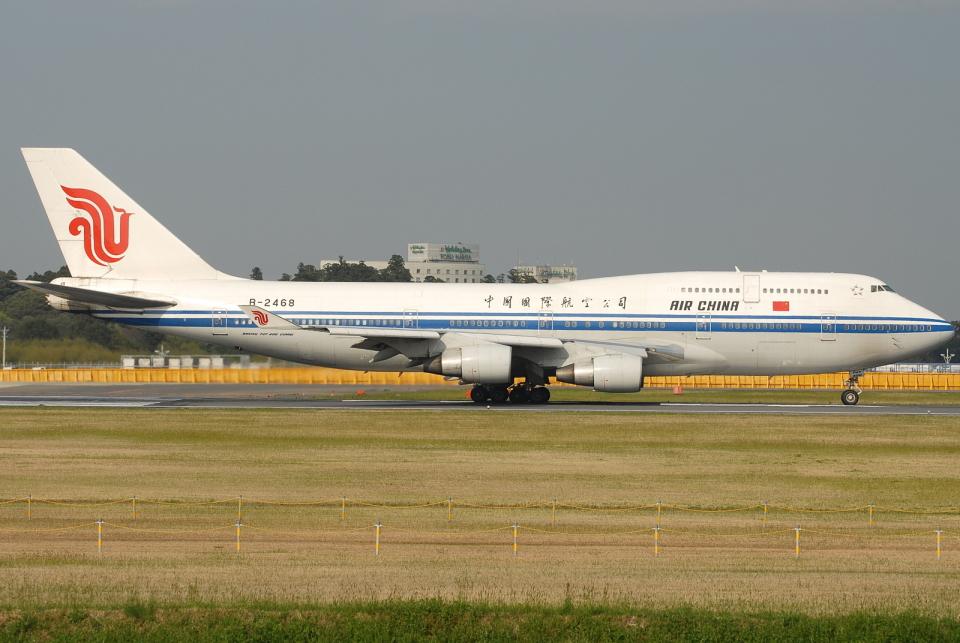 jun☆さんの中国国際航空 Boeing 747-400 (B-2468) 航空フォト