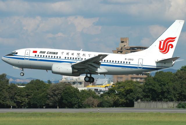 jun☆さんが、名古屋飛行場で撮影した中国国際航空 737-79Lの航空フォト(飛行機 写真・画像)