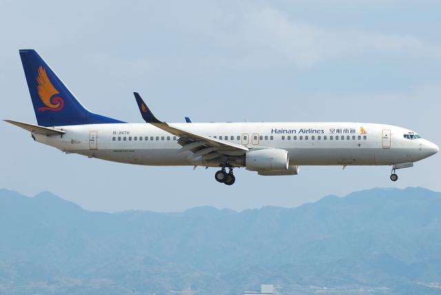 jun☆さんが、関西国際空港で撮影した海南航空 737-84Pの航空フォト(飛行機 写真・画像)