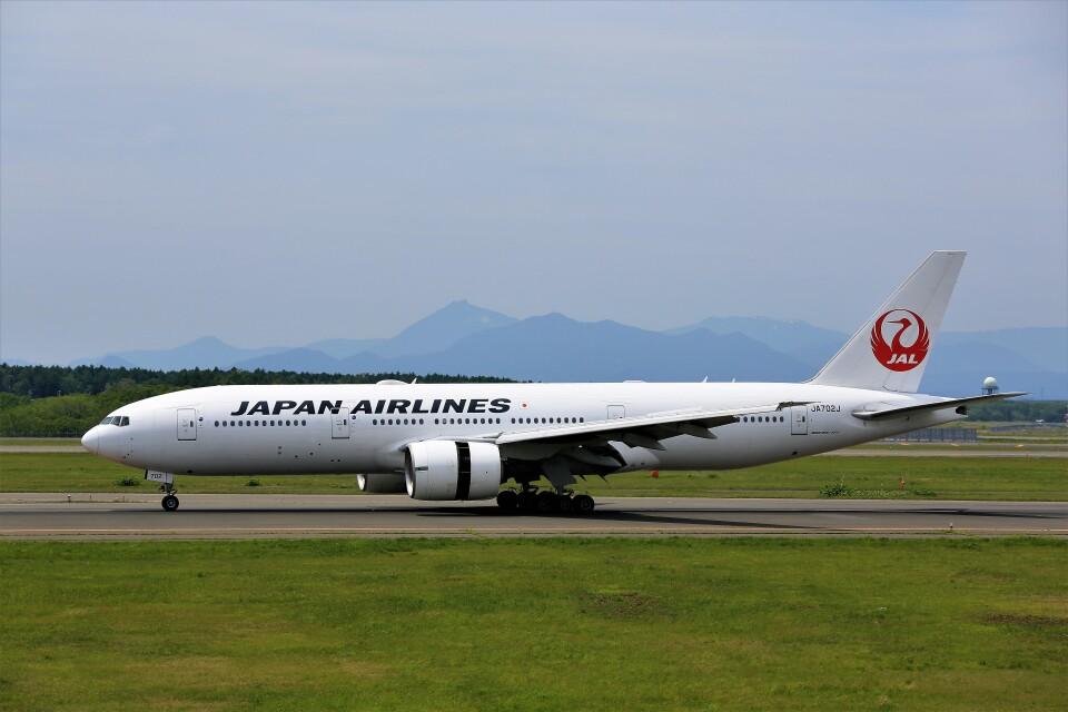 にしやんさんの日本航空 Boeing 777-200 (JA702J) 航空フォト