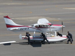 F.YUKIHIDEさんが、岡南飛行場で撮影した岡山航空 T206H Turbo Stationairの航空フォト(飛行機 写真・画像)