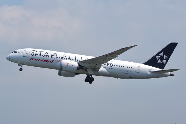 2019年09月02日に撮影されたエア・インディアの航空機写真
