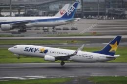 PIRORINGさんが、羽田空港で撮影したスカイマーク 737-8FZの航空フォト(飛行機 写真・画像)